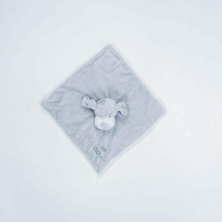 doudou lange chien gris et blanc