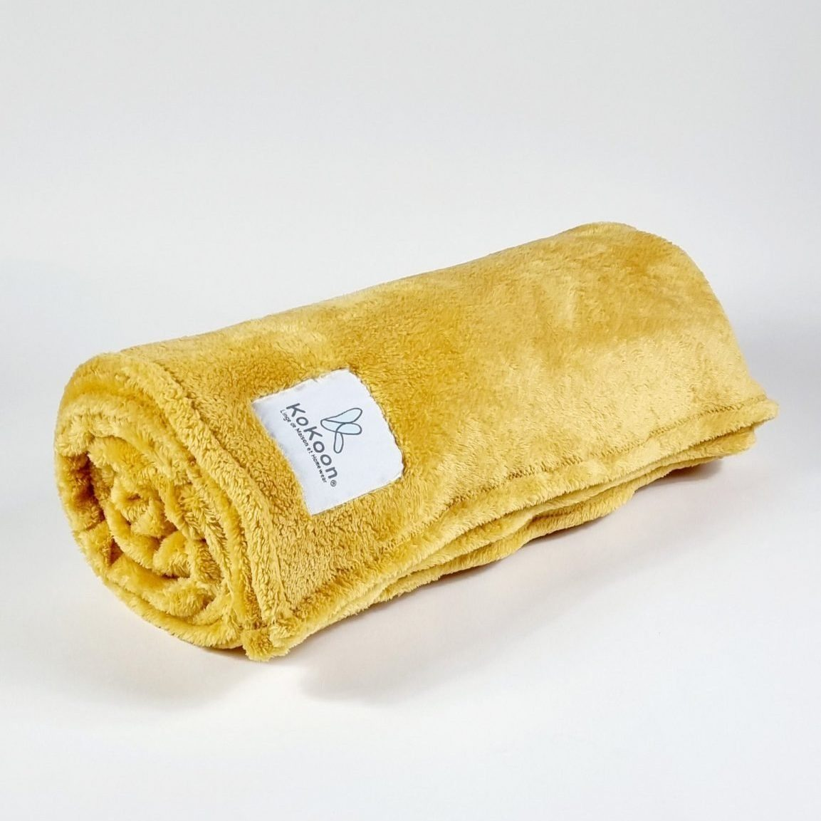 plaid jaune moutarde kokoon